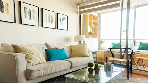Departamento Providencia: Paisajismo de interiores de estilo  por Klover