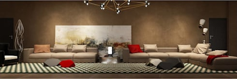 The living room : minimalistic Living room by  Ashleys