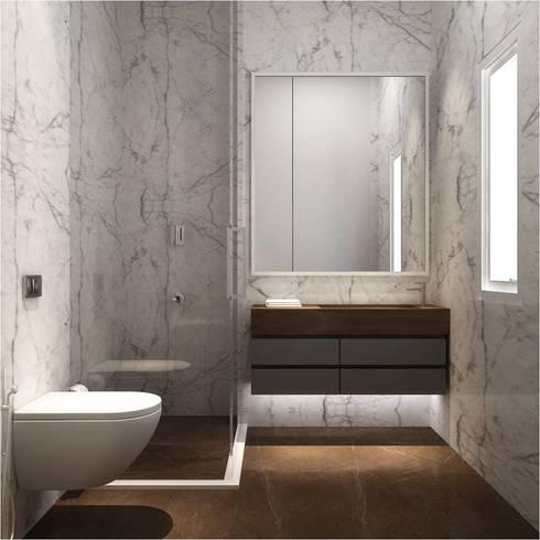 Btahroom : minimalistic Bathroom by  Ashleys