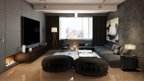 Living room : minimalistic Living room by  Ashleys