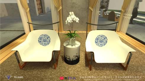 明明德設計椅  - 京悅設計(台灣):  臥室 by 京悅室內裝修設計工程(有)公司|真水空間建築設計居研所