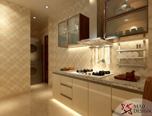 Apartment Project @Palm terrace drives by MAD DESIGN: scandinavian Kitchen by MAD DESIGN