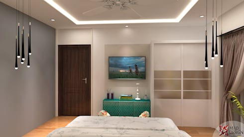 Apartment Project @Palm terrace drives by MAD DESIGN: scandinavian Bedroom by MAD DESIGN
