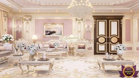 New home designs by Katrina Antonovich: classic Living room by Luxury Antonovich Design