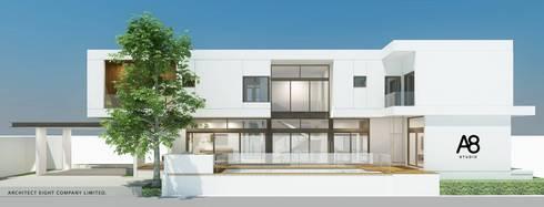 EN-COURT HOUSE : บ้าน 2 ชั้น ซอยประชาอุทิศ:   by A8 Design Studio