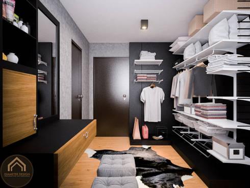 รีโนเวท  JW Condo:  ห้องแต่งตัว by Diameter Design