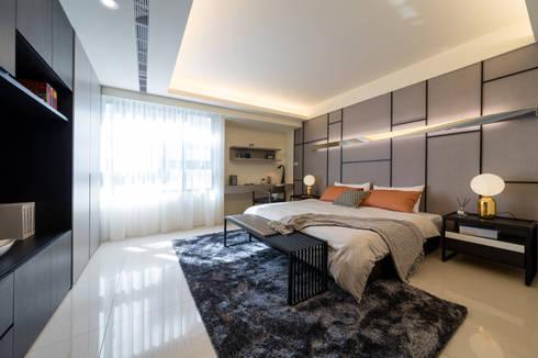 渡假趣:  臥室 by 木皆空間設計