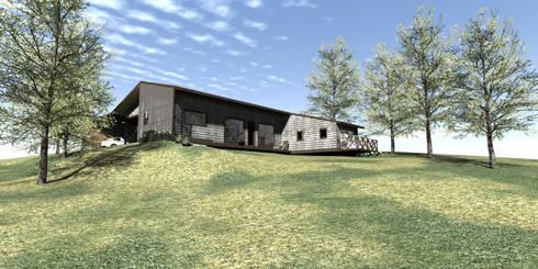 Casa Loteo Los Morros, camino a Lago Atravesado: Casas unifamiliares de estilo  por casa rural