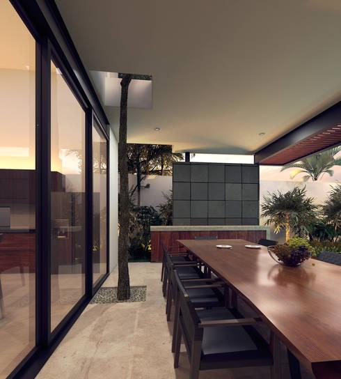 Casa VMC: Terrazas de estilo  por Heftye Arquitectura