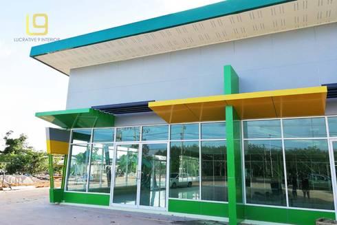 งานก่อสร้าง อาคารสหกรณ์การเกษตร :  อาคารสำนักงาน ร้านค้า by Lucrative 9 Interior Design and Construction co.,ltd.