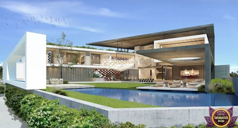 Architectural project in Los Angeles by Katrina Antonovich: modern Houses by Luxury Antonovich Design