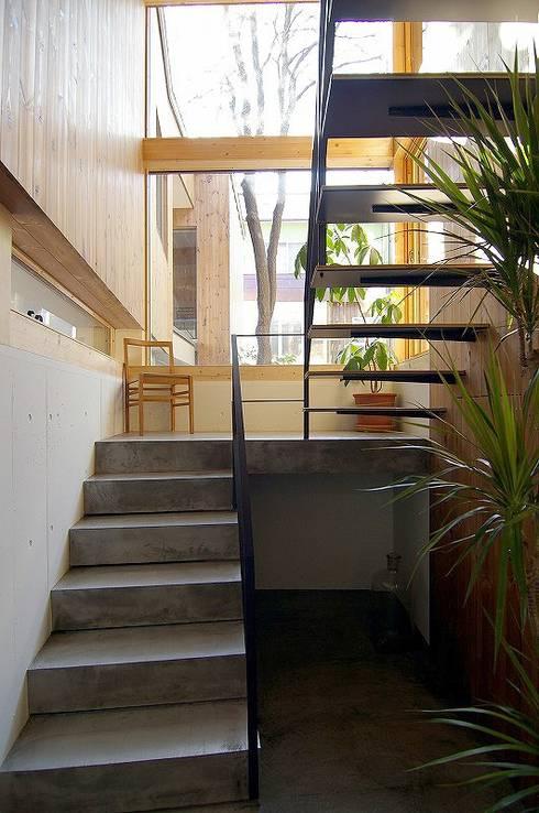 イヌエンジュの家: 株式会社 ATELIER O2が手掛けた階段です。