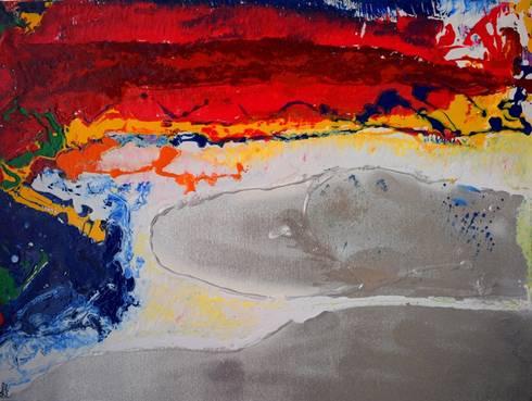 Sunset by the untrod-den beach:  Artwork by Indian Art Ideas