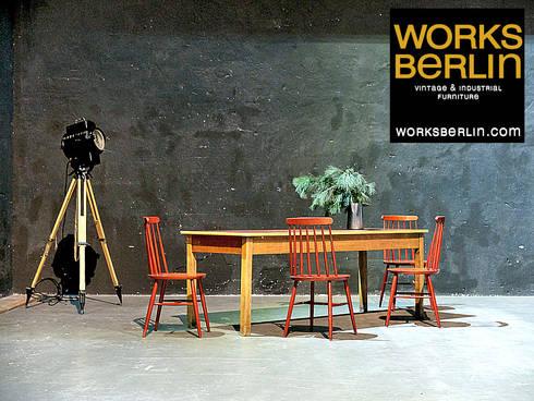 industrial Living room by works berlin