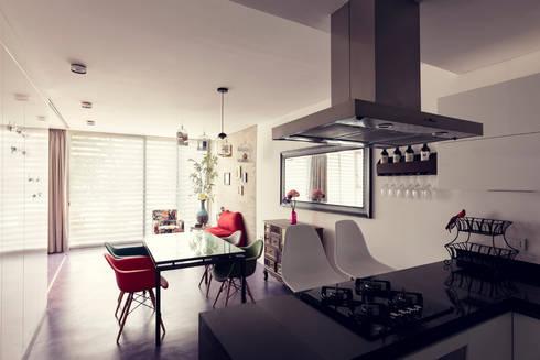 Edificio VH: Salas de estilo moderno por BCA taller de diseño