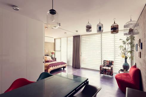Edificio VH: Recámaras de estilo moderno por BCA taller de diseño