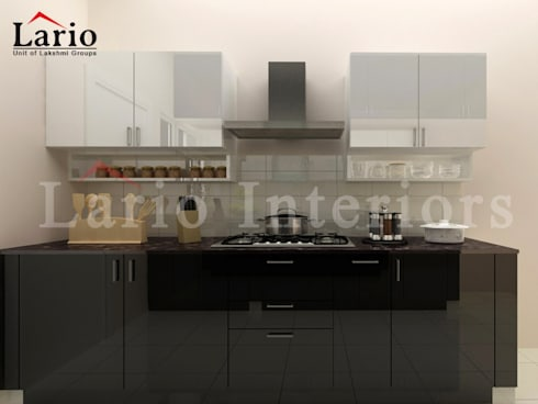 Modular kitchen:  Kitchen by Lario interiors