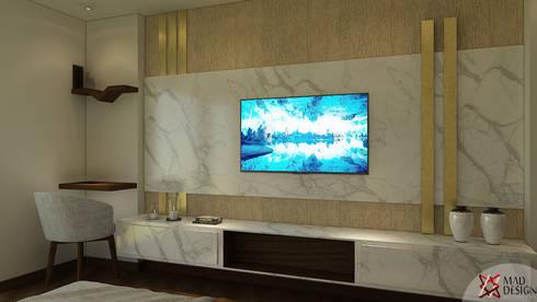 minimalistic Media room by MAD DESIGN