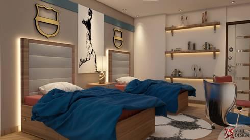 minimalistic Bedroom by MAD DESIGN