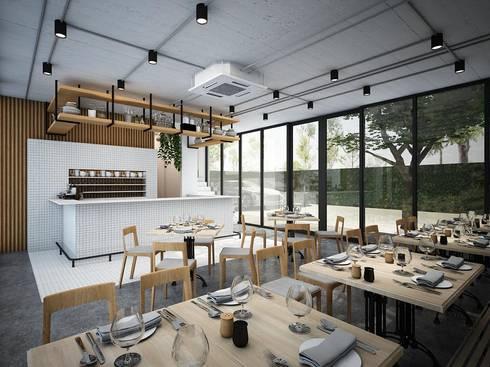 industrial Dining room by Zero field design studio