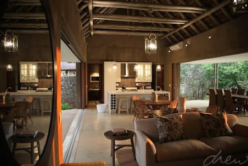new lodge  |  leopard creek estate: modern Living room by drew architects + interiors