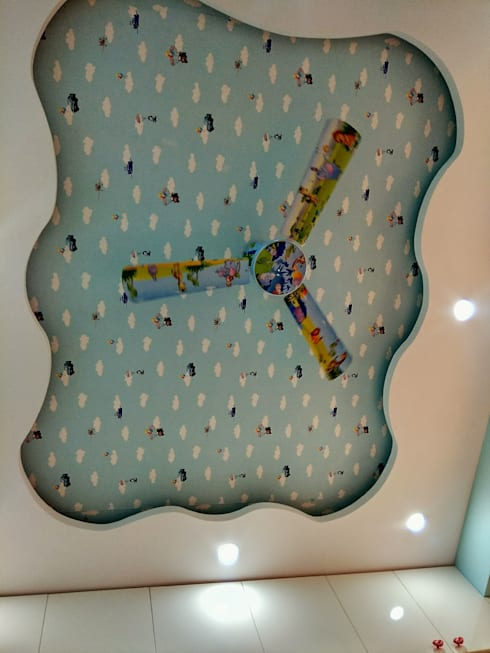 DLF Westend Heights - A1124: modern Nursery/kid's room by Pebblewood.in