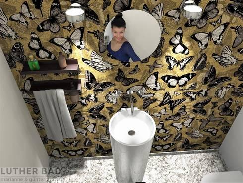 Gäste Toilette Mit Tapete, Perspektive01. Modern Bathroom By LUTHER BAD