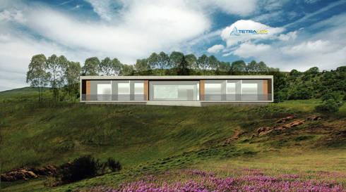 Casa Portal del Lago: Casas de estilo minimalista por Tetralux Arquitectos