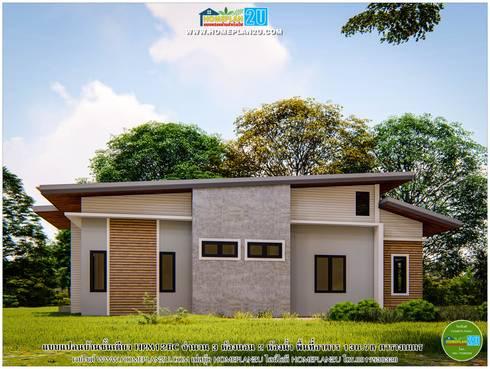 แบบแปลนบ้านชั้นเดียว HPM126C:   by แบบแปลนบ้านสำเร็จรูป