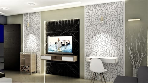 PROPOSED APARTMENT INTERIOR AT KONDHWA, PUNE. : modern Bedroom by DESIGN EVOLUTION LAB