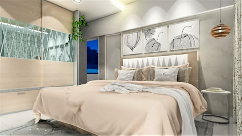 PROPOSED INTERIOR DESIGN AT PASHAN .: minimalistic Bedroom by DESIGN EVOLUTION LAB
