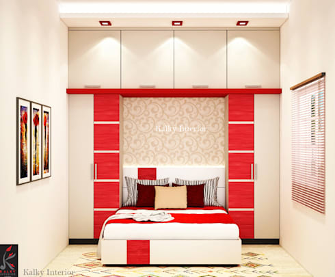 Guest bedroom: minimalistic Bedroom by kalky interior
