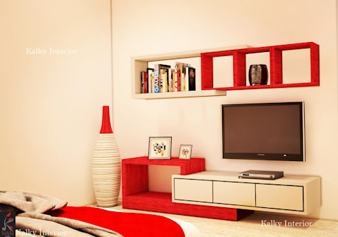 Duplex interior, Bhubaneswar: minimalistic Bedroom by kalky interior