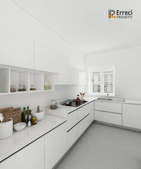Cucina total white by Erreci Progetti | homify