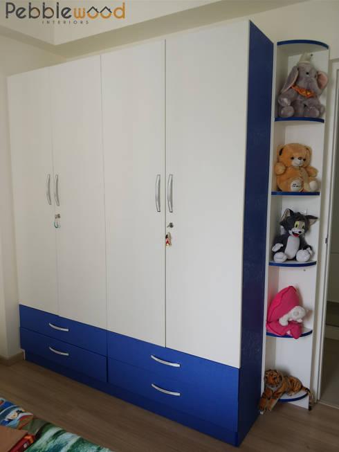 B6111—DLF Westend Heights: modern Nursery/kid's room by Pebblewood.in