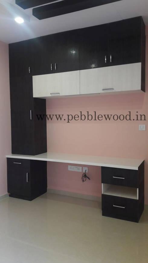 Nandi Citadel—E303: modern Study/office by Pebblewood.in