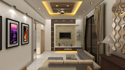 Modern Living Room: modern Living room by Creative Focus