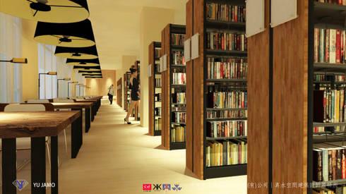 NTUS Library大學圖書館設計案 - 京悅設計:  書房/辦公室 by 京悅室內裝修設計工程(有)公司|真水空間建築設計居研所