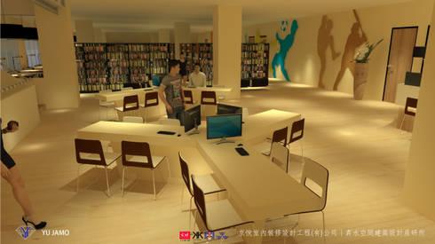 NTUS Library大學圖書館設計案 - 京悅設計:   by 京悅室內裝修設計工程(有)公司|真水空間建築設計居研所