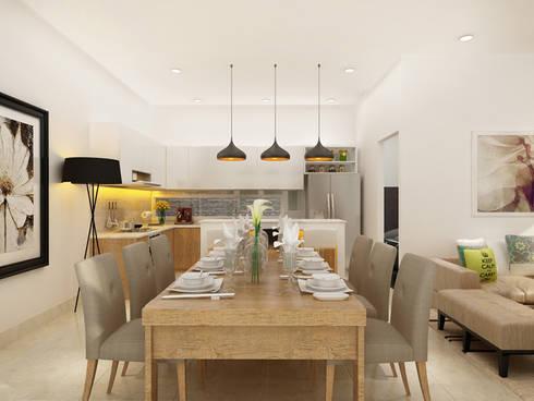 Thiết Kế Nhà 1 Tầng 3 Phòng Ngủ Chỉ Với 800 Triệu:  Phòng ăn by Công ty TNHH Xây Dựng TM – DV Song Phát