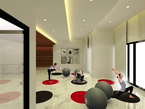 Fitness Room :  Ruang Fitness by SEKALA Studio