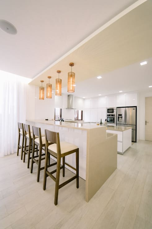 WW House: minimalistic Kitchen by Living Innovations Design Unlimited, Inc.