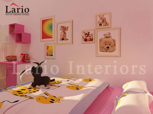 Kids bedroom:  Bedroom by Lario interiors