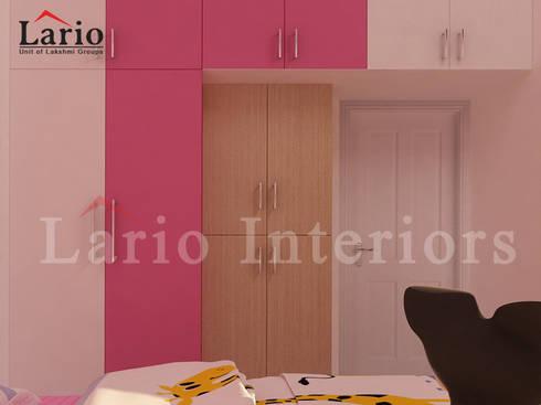 Wardrobe:  Bedroom by Lario interiors