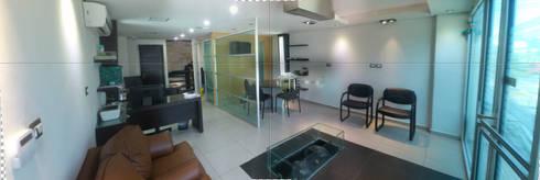 vestibulo oficinas: Edificios de Oficinas de estilo  por DISEÑO APLICADO AVANZADO DE GUADALAJARA