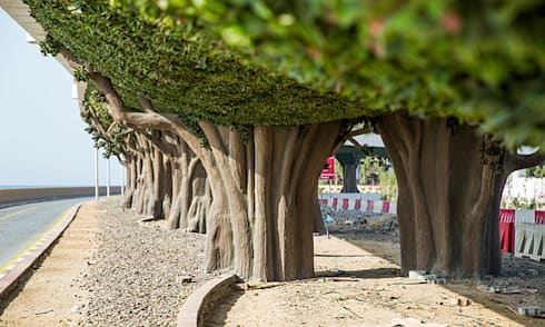 Artificial Laurel Foliage Hedges For A Forest Bridges Project:  Stadiums by Sunwing Industrial Co., Ltd.