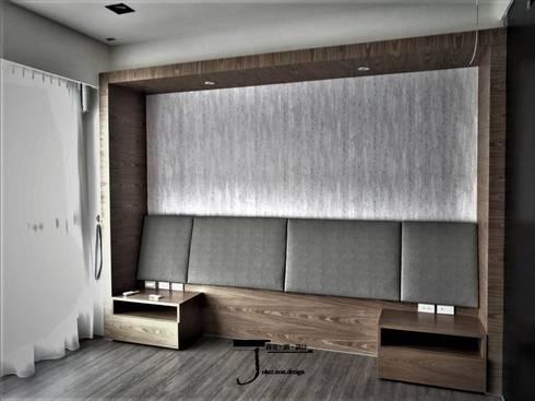 岩顏日和的58。角屋-:  臥室 by 喬克諾空間設計
