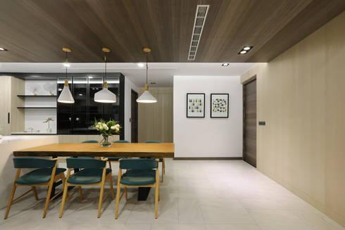 人文自然派的no.229舍-場景-餐廚:  餐廳 by 喬克諾空間設計