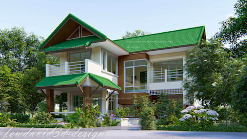 แบบบ้านต้นแสง:  บ้านและที่อยู่อาศัย by fewdavid3d-design