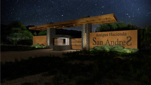 PORTICO SAN ANDRES: Jardines en la fachada de estilo  por PROMENAD ARQUITECTOS